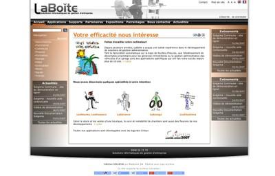 Image du site Internet de LaBoîte Sàrl