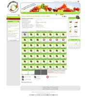 Vue du système de gestion du site Panier du Bisse