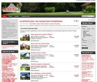 Vue du site www.maya-immo.com