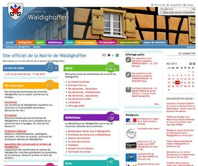 Véritable point de rencontre des habitants et forces vives de la commune, www.waldighoffen.com renouvelle le genre des sites communaux !