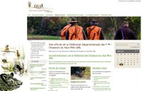Une image présentant le site de la fédération départementale des chasseurs du Haut-Rhin