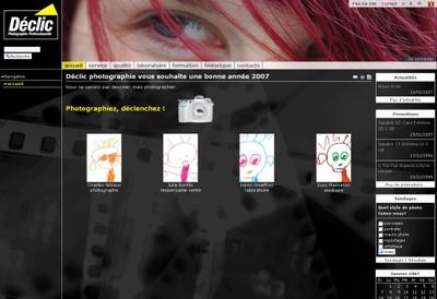 Le site web de Déclic photo, magasin de photographie professionnelle à Monthey, présente les prestations de l'entreprise mais aussi quelques travaux.
