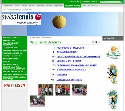 Toutes l'actualité du tennis dans le canton de Vaud par l'association Vaud Tennis.