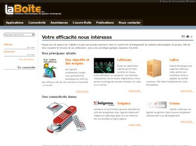 Le site Internet de LaBoîte Sàrl, solutions de gestion d'entreprises, lui sert à présenter ses prestations dans le domaine de la gestion administrative.