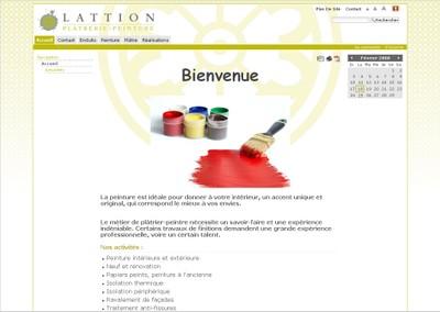 Une image du site Internet de Lattion-Platrerie-Peinture