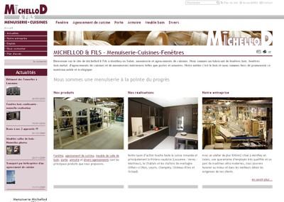 Le site internet de la Menuiserie Michellod présente l'entreprise d'une manière simple et efficace.