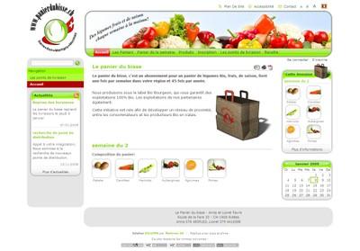 """Le site Internet """"Paniers du bisse"""" permet de souscrire un abonnement pour un panier de légumes bio, frais, de saison, livré une fois par semaine."""