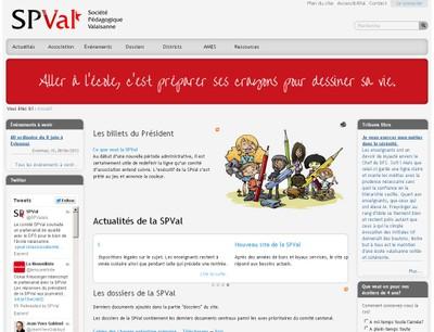 Simple et efficace, le nouveau site de la SPVal (Société Pédagogique Valaisanne) est un outil de communication et de partage puissant mis au service des enseignants du Valais.