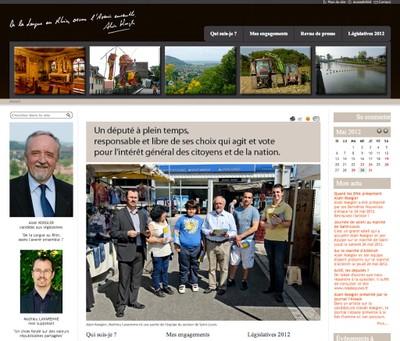 Visuel du site d'Alain Koegler