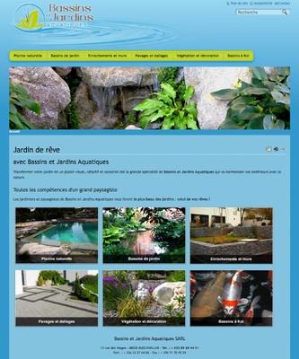 Vue du site www.bassins-jardins-aquatiques.fr
