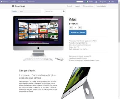 Odoo capture d'écran affichage article