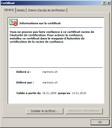 Informations sur le certificat IE7