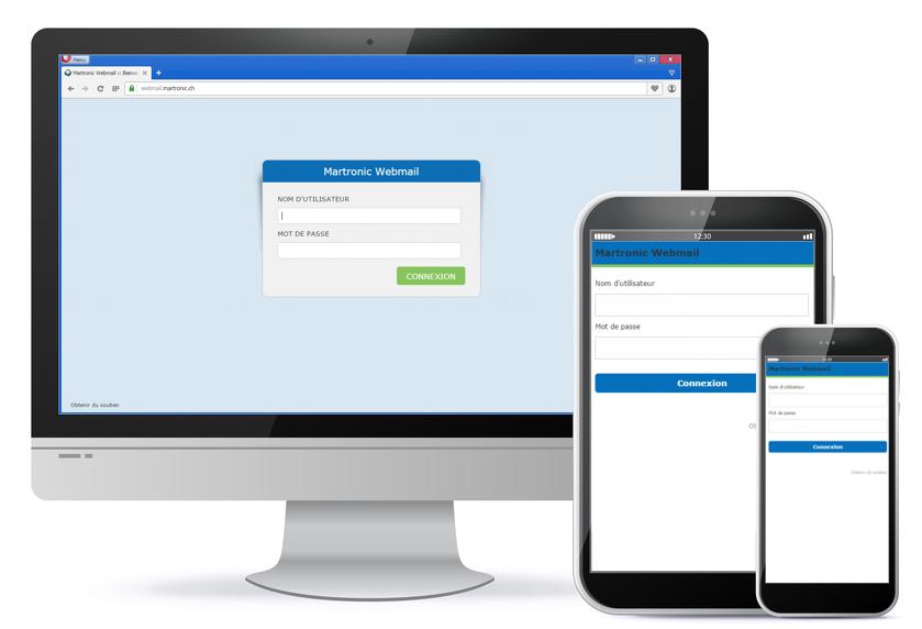 Connexion au Webmail Multi-Supports Roundcube